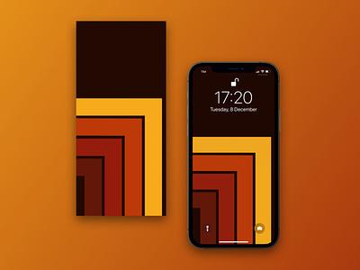 """Parquet"" effect - abstract wallpaper abstract yellow orange dark wood parquet brown vector design illustration mobile iphone illustrator ui ux gradient sketch"