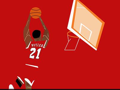 Jimmy Butler geometric art portrait miami heat bulls chicago bulls nba finals nba poster nba playoffs nba art nba butler jimmy butler