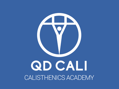 QD Cali bold confident strong fitness gym athletics logo sports branding calisthenics