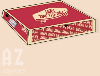 vans pizza box illustration