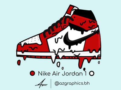 Nike Air Jordan 1's Illustration