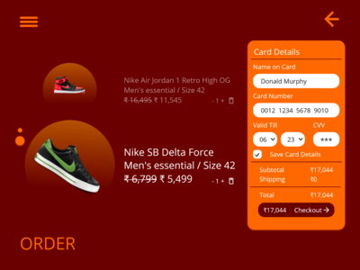 Credit card checkout page UI Daily UI Challenge #2