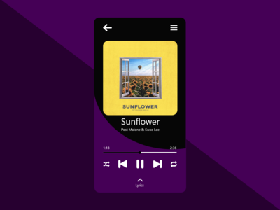 Music player song playing UI