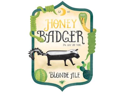 Honey Badger Label