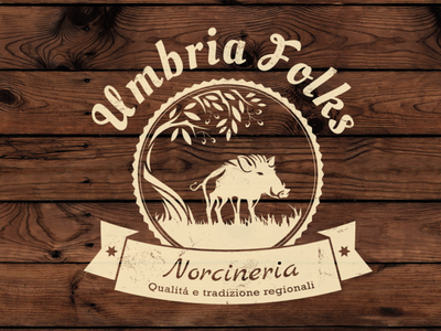 Umbria Folks Logo design logo