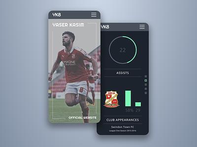 Yaser Kasim Official Website logo branding website design