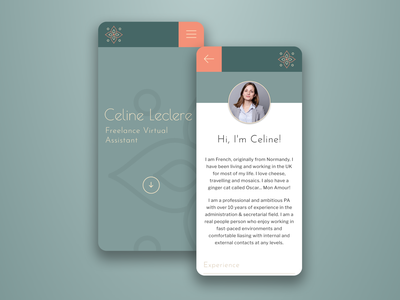 Celine Leclere Website illustrator ux ui website branding logo design
