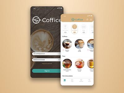 Coffice App ux ui app logo design