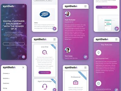 Synthetix website design branding ui ux website