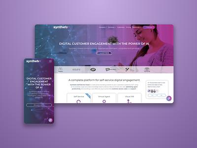 Synthetix website web design branding ui ux website