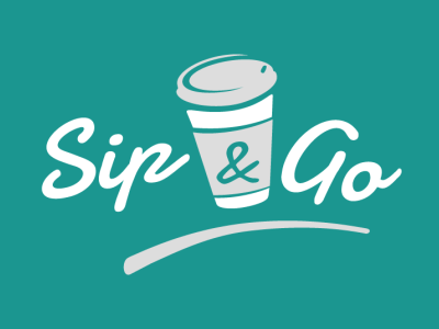 Sip&go Logo illustrator design logo