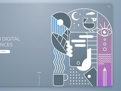Inspiring Web Project web vector branding design illustration illustrator ui website