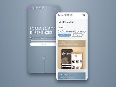 Inspiring Web Project - Portfolio flat minimal illustration web design logo branding ux ui website