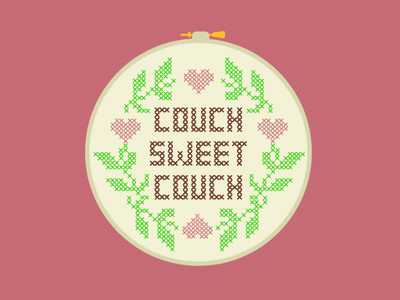 Couch Sweet Couch home covid stay home needlepoint crochet couch