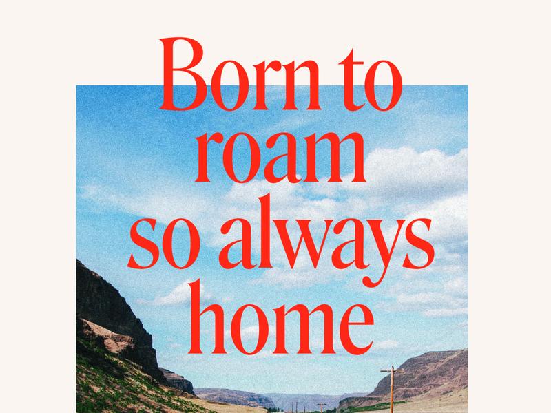 Born to Roam road postcard yonder roam