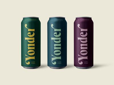 Yonder Cans typography hard cider beer can cider yonder