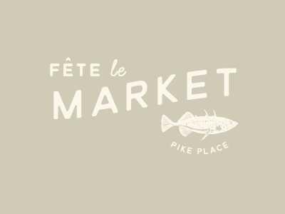 Fete le Market evening dinner french fish market pike place