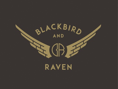 Blackbird and Raven motorcycle monogram wings raven blackbird