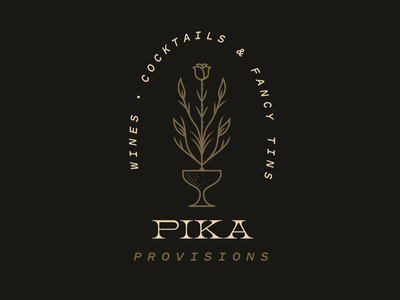 Pika Provisions drink provisions glass folliage rose cocktail bar