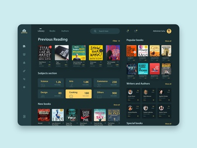Library UI concept.