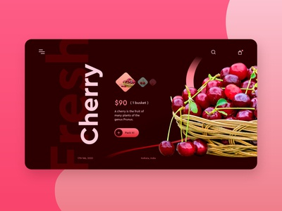 Cherry Store landing page