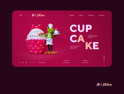 Ak's Kitchen UI concept.