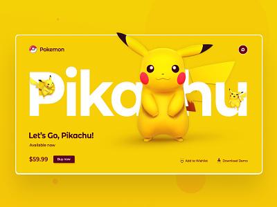 Pikachu UI Design Concept ui designs clean design clean ui design app website design web design ui developer development branding design logodesign logo designer behance uidesign uxdesign ux webdesign uiux designs