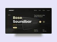 Bose redesign ui concept