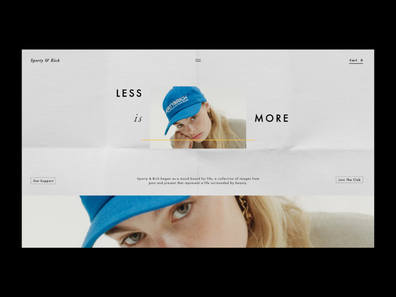 Sporty & Rich Website Redesign web design logo ux ui interface branding adobe xd adobe design