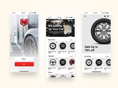 Car Accesories Shop car accesories shop graphic design ux ui mobile apps