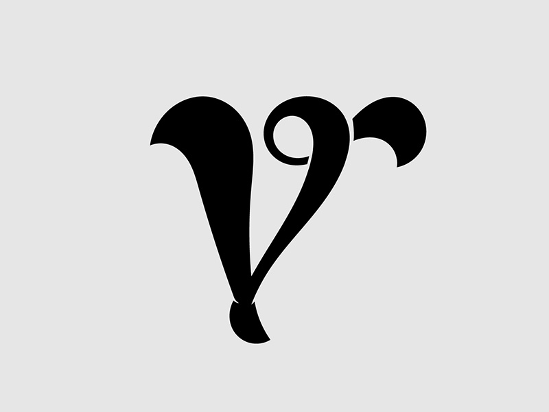 V typography letter vector letterform customtype typedesign type smooth glyph 36daysoftype