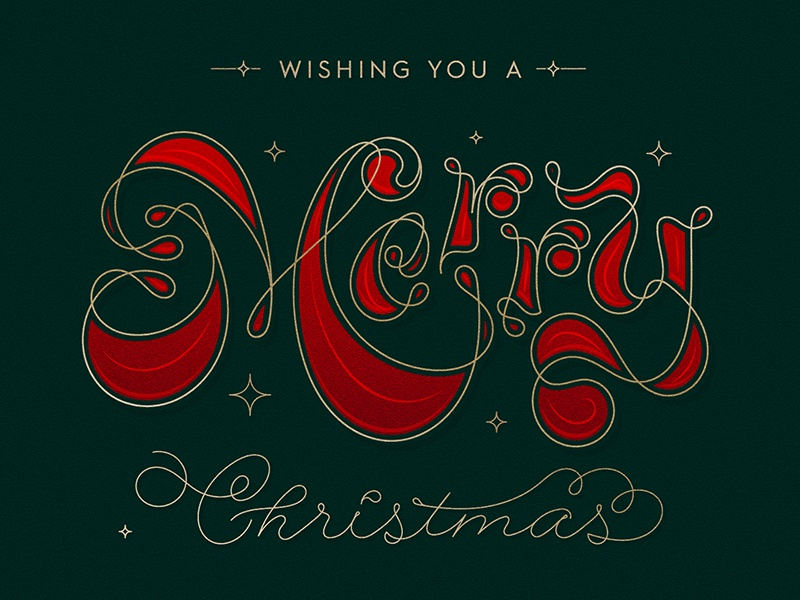 Merry Christmas custom merrychristmas christmas typedesign letterform customtype smooth illustration calligraphy vector lettering letter type typography