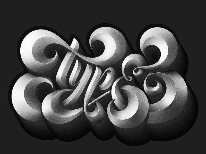 Type grain black  white illustration handlettering typedesign custom letterform customtype smooth vector letter glyph lettering type typography