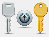 Keys and keyhole icons