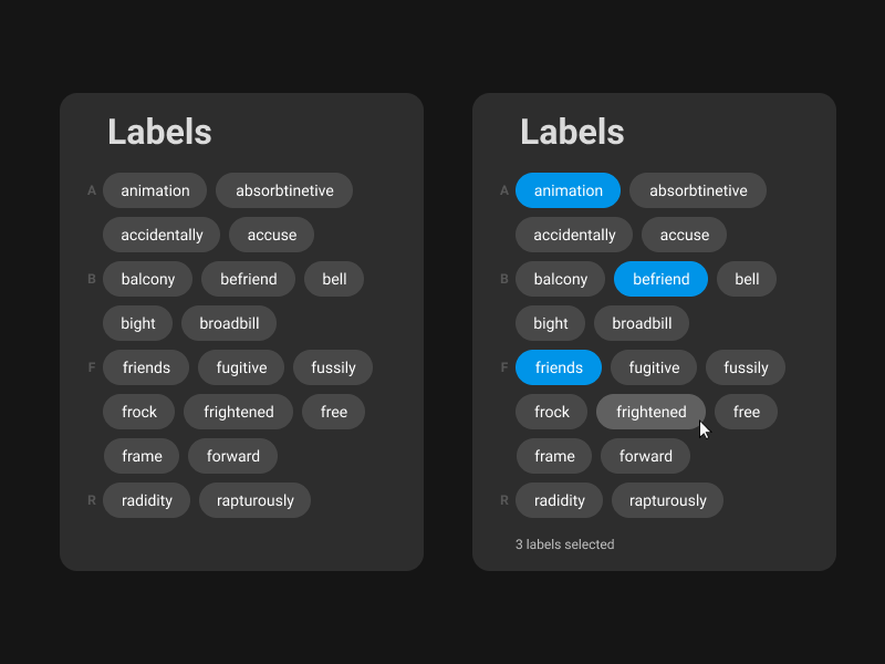 "Rebound of "" See Merged Entities"" uidesign labels label tag design tag line tag"
