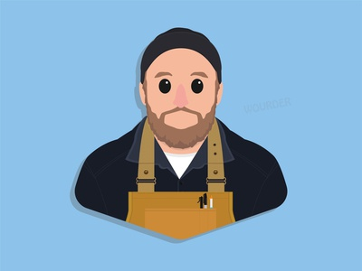 Brad Leone wourder character food youtube culinary chef fan art design character design illustration