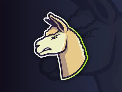 Alpaca Mascot Logo llama mascot rebrand alpaca animal esports sports football character design vector mark design brand logo branding illustration