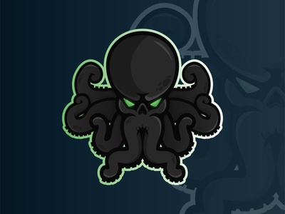 Octopus Mascot Logo cthulhu hydra octopus mascot sports vector mark design brand character design logo branding illustration