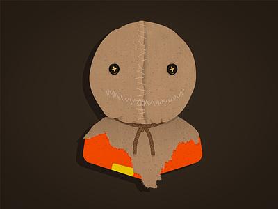 Sam vector fan art brand character design illustration october fest horror movie scary horror october halloween trick or treat