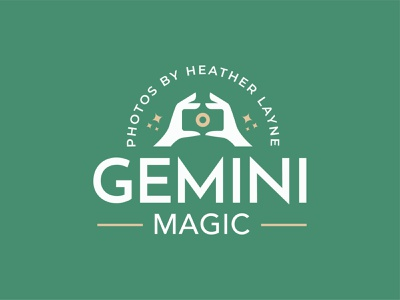 Gemini Magic gemini camera hands photographer photography magic vector mark brand design logo illustration