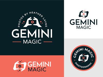 Gemini Magic Photography astrology gemini camera photography photographer hands magic vector mark brand design logo branding illustration