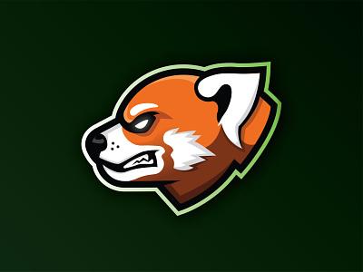 Red Panda mascot logo mascot gaming esports sports football vector mark brand design logo branding illustration red panda