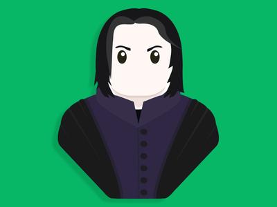 Severus Snape half blood prince severus snape alan rickman harry potter illustration design character snape