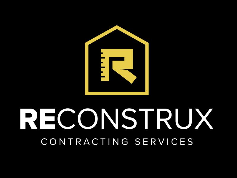 Reconstrux Contracting Services construction renovation tape measure rebrand branding logo