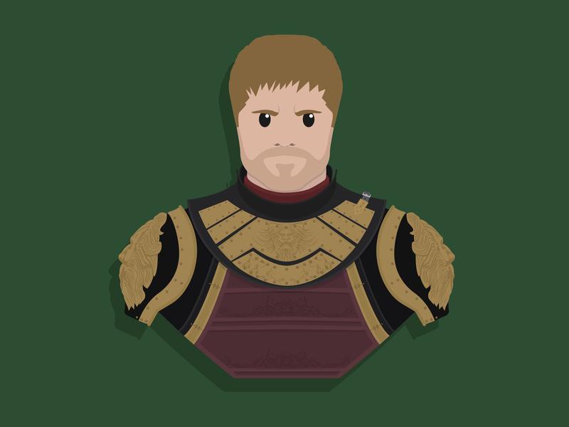 Jaime Lannister fan art hbo got jaime lannister game of thrones design vector character design illustration