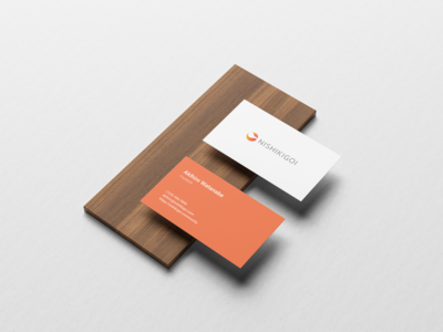 Nishikigoi Logo Design - Business Card