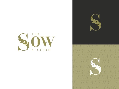 SOW Reject typography sketch wordmark grain brand branding vegetarian sustainable plant based vegan rustic natural logo identity