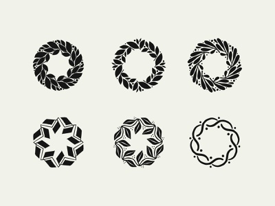 Wreath exploration sketches branding icon identity logo illustration leaves sketch wreath