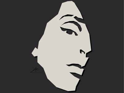 Tribute to... face female illustration vector