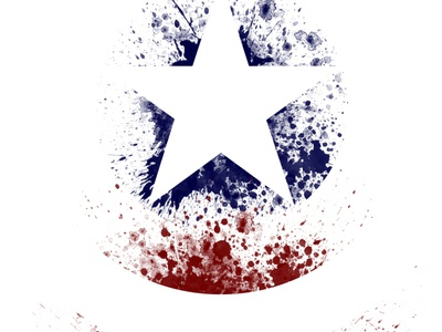Not My Captain disneyplus illustration paintsplatter winter soldier falcon captain america